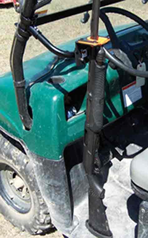 Golf Cart 400FB Front Side Mount Gun Rack