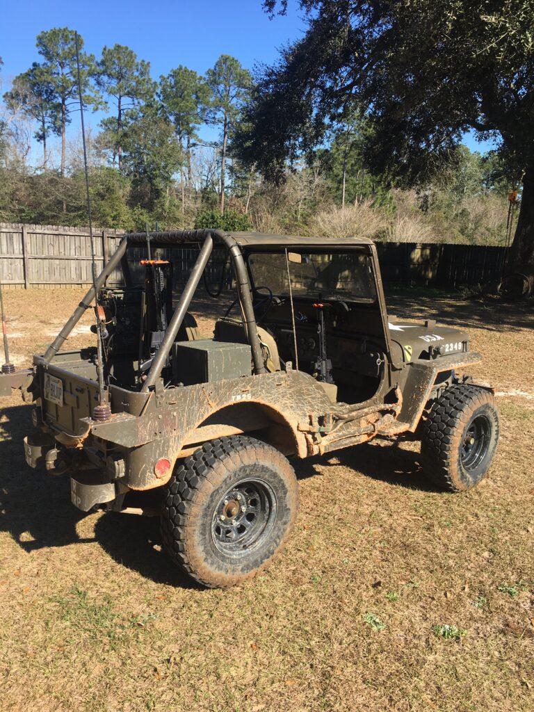 Military Grade Steel 300 O/U Mounted in Jeep