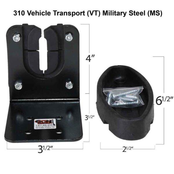 310 Vehicle Transport VT Military Steel MS Gun Rack