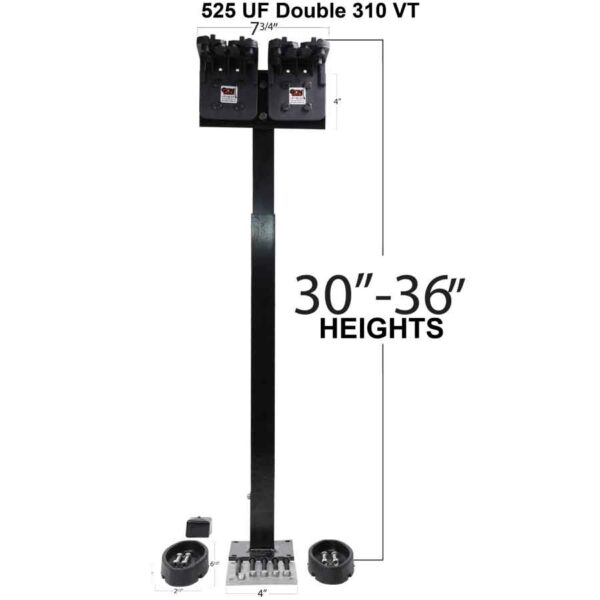 UTV Golf Cart Vertical Gun Rack 525uf 310VT Double