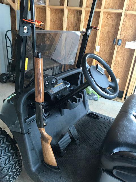 Military Grade Steel 300 O/U Mounted in Golf cart.